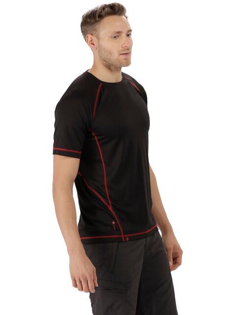 Regatta Virda II Bluzka z krótkim rękawem Mężczyźni czerwony/czarny
